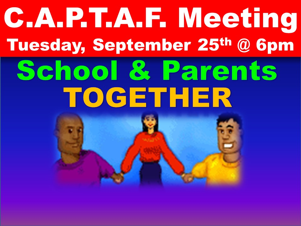 C.A.P.T.A.F. Meeting Tuesday, September 25th @ 6pm