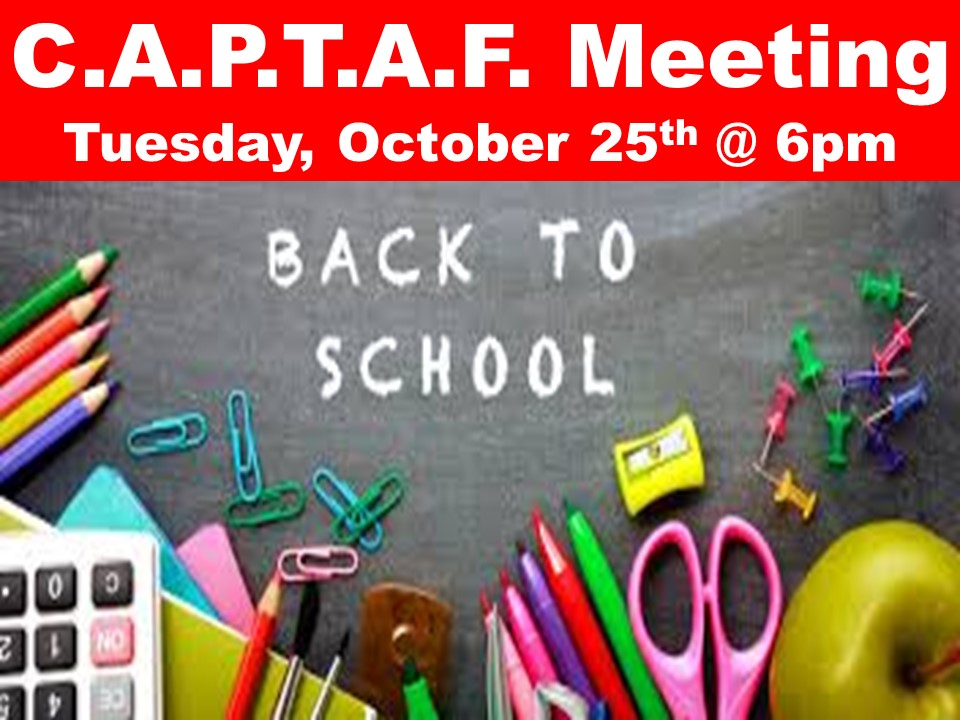 C.A.P.T.A.F. Meeting Tuesday, October 25th @ 6pm