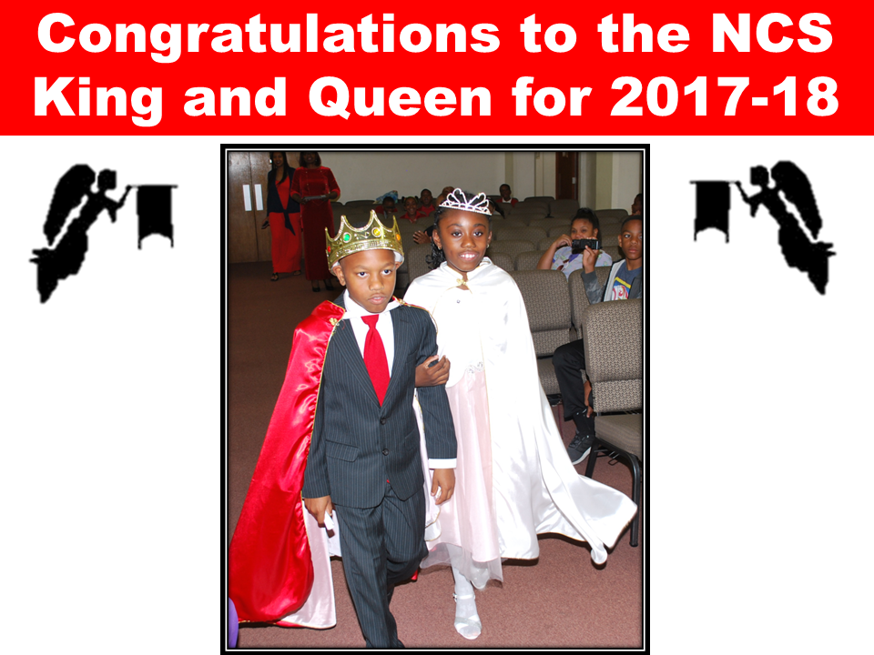 Congratulations to the NCS King and Queen for 2017-18