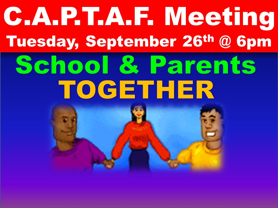 C.A.P.T.A.F. Meeting Tuesday, September 26th @ 6pm