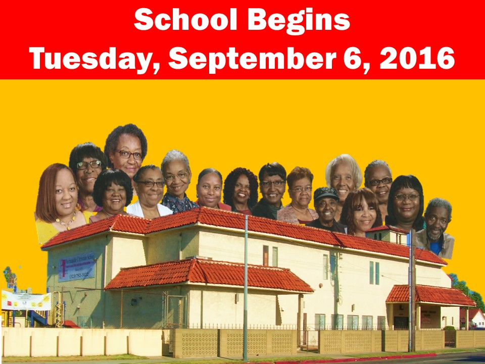 School Begins Tuesday, September 6, 2016