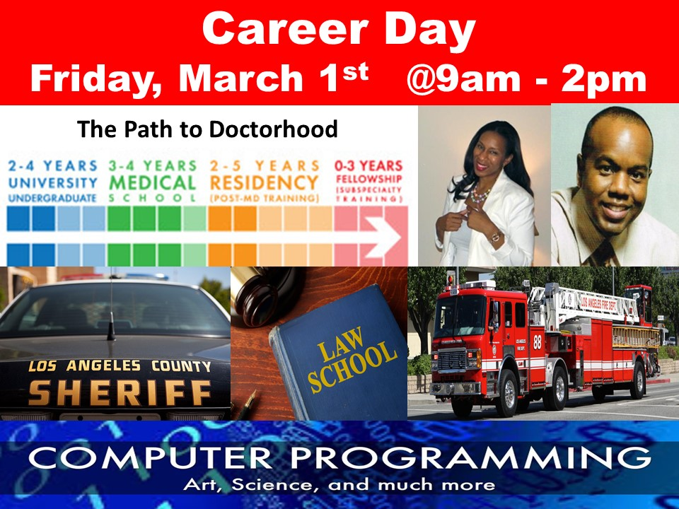 Career Day Friday, March 1st, 9am – 2pm