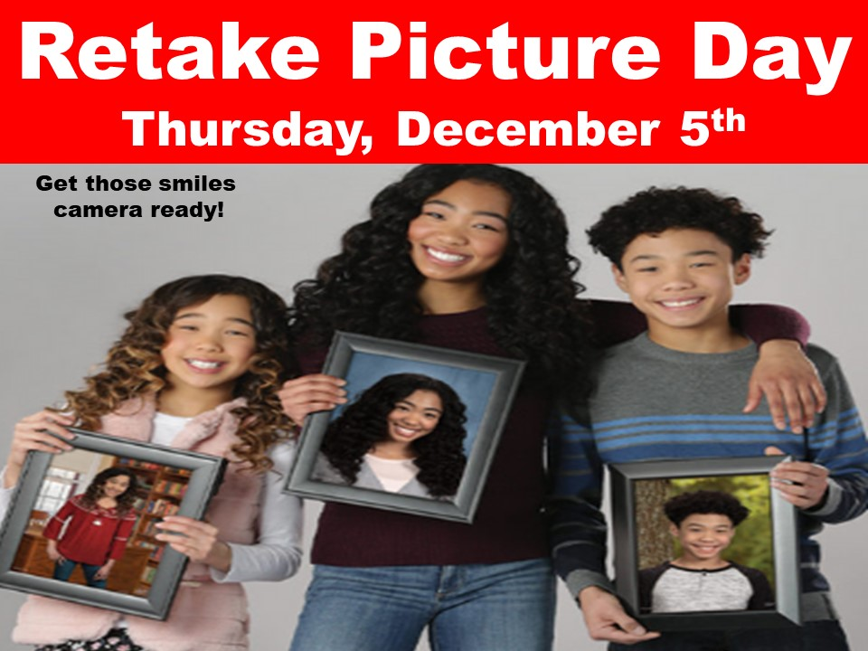 Retake Picture Day Thursday, December 5th